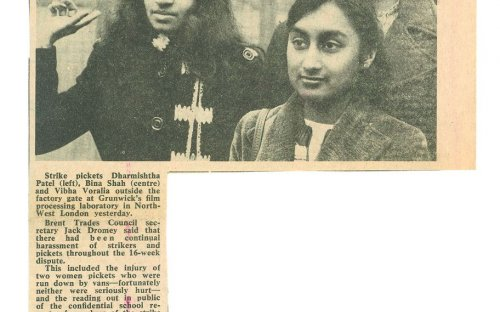South Asian women picketing outside Grunwick