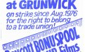 Appeal to public to boycott Grunwick's photoprocessing business.