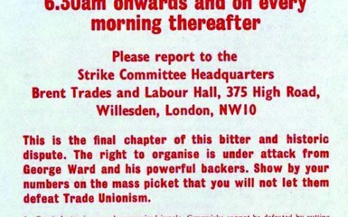 The Strike Committee calls for a mass picket