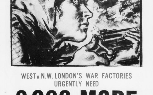Poster issued by the Ministry of Labour and National Service in 1944 following the invasion of Soviet Union by Nazi Germany.