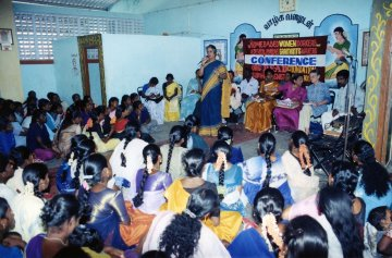Homeworkers campaign for better rights with the support of HWW in Pudukkottai, Tamil Nadu.